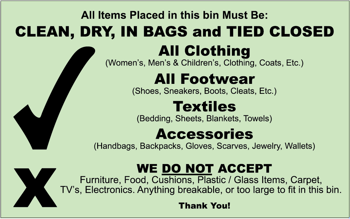 Clothes and Linens Recycling at DRES