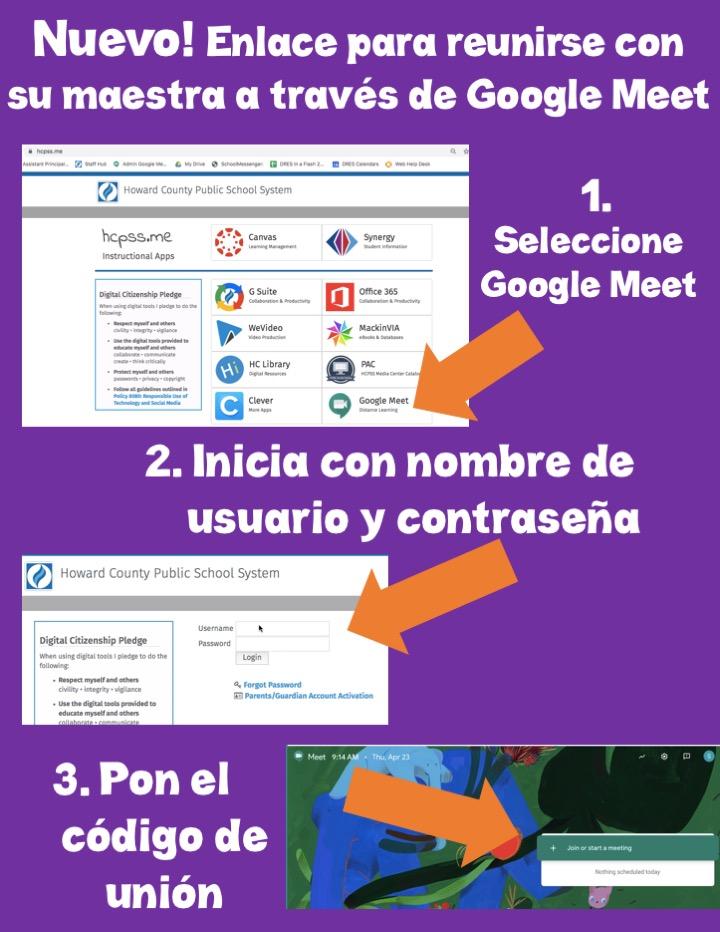 Google Meet Spanish